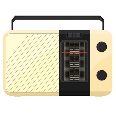 portable radio: Vector ilustraci�n de un radio port�til