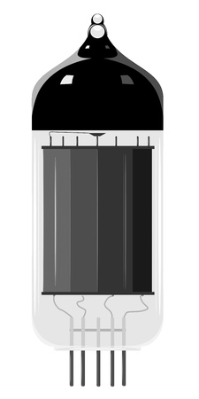 Vector illustratie van een oude vacuüm buis. EPS10 Vector Illustratie