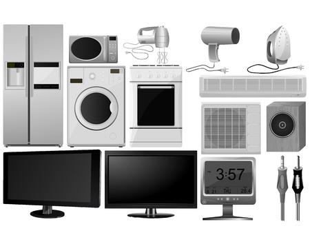 Grote collectie van vector afbeeldingen van huishoudelijke apparaten