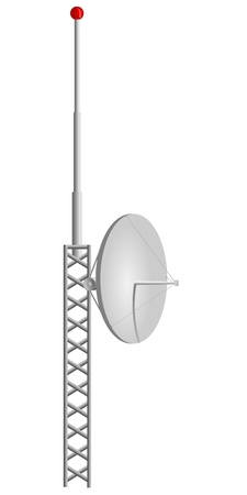 wireless tower: Vector illustration of mobile antennas