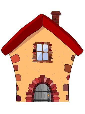 Vector illustratie van een stenen huis