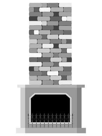 Vector illustration of the fireplace Vector
