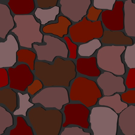 rubble: Vector illustration of seamless stone wall textures Illustration