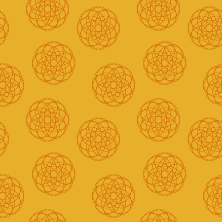 Seamless texture on an orange background Stock Vector - 12021531