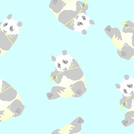 Seamless texture of a panda  Vector