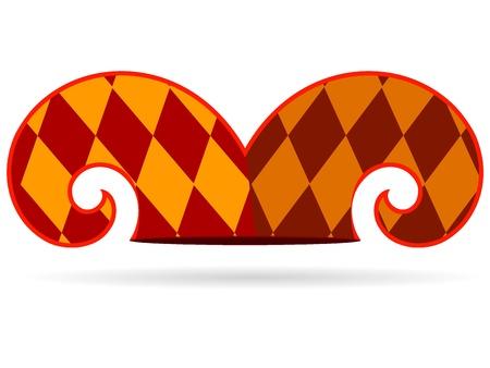 giullare: Illustrazione vettoriale di un cappello da giullare