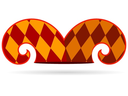 chimes: Vector illustration of a jester hat