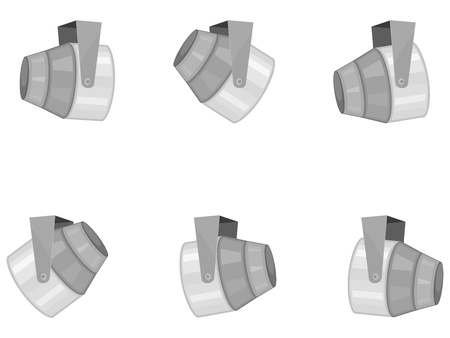 reflector: Vector illustration set of spotlights