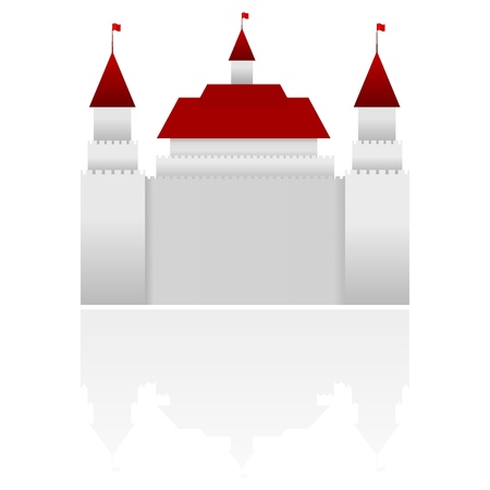western wall: Vector illustration of castle