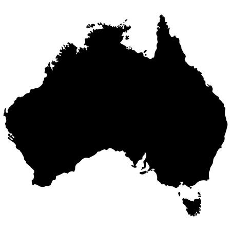 Vector illustration of maps of Australia