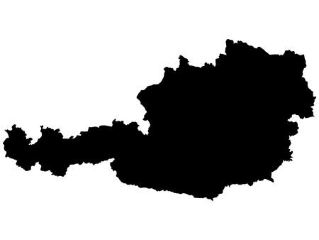Vector illustration of maps of  Austria Stock Vector - 12397511