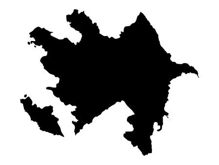 Vector illustration of maps of  Azerbaijan  Stock Vector - 12397513