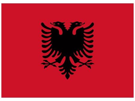 albanie: Vector illustration du drapeau de l'Albanie