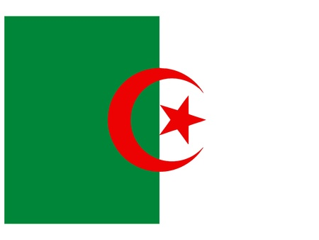 Vector illustration of the flag of  Algeria  Vector