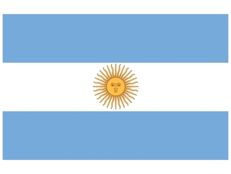 Vector illustration of the flag of  Argentina  Vector