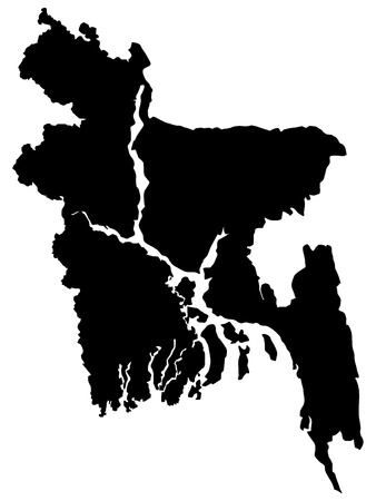 Vector illustration of maps of Bangladesh   Vector