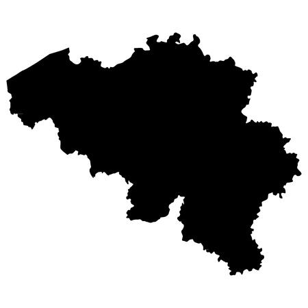 Vector illustration of maps of  Belgium  Stock Vector - 12397503