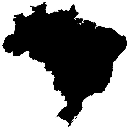 Vector illustration of maps of  Brazil  Vector