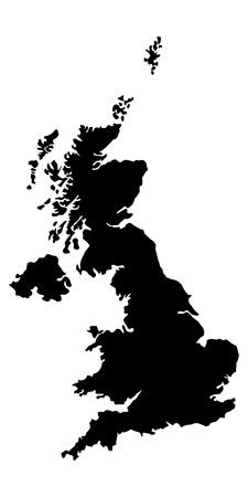 Vector illustration of maps of United Kingdom