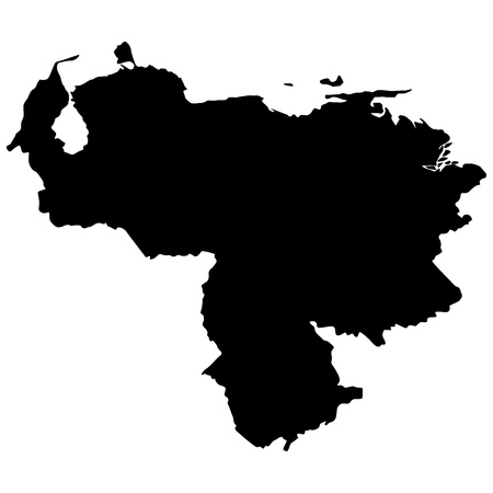 mapa de venezuela: Ilustración vectorial de mapas de Venezuela