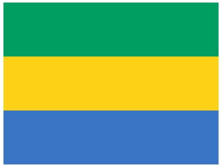 Vector illustration of the flag of  Gabon  Vector
