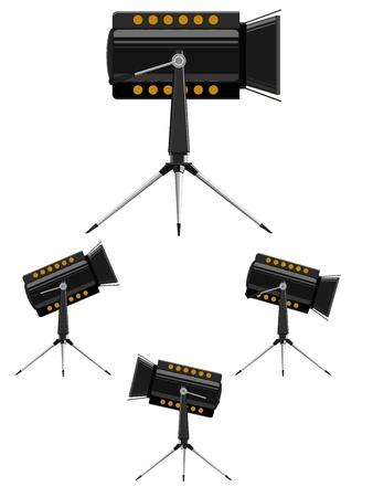 Vector image spotlights