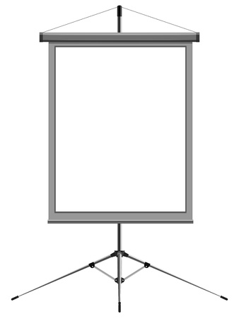 Vector image of a blank presentation  Stock Vector - 12397641
