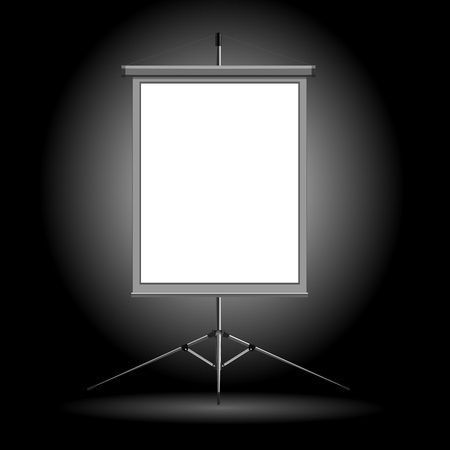 Vector illustration of the stand on a dark background Vector