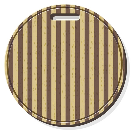 Vector illustration of a cutting board Vector