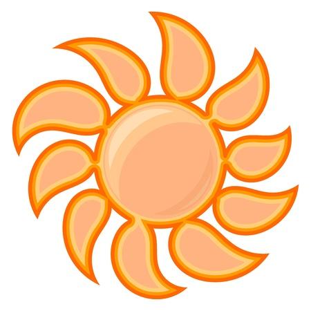 Vector sun sign Vector