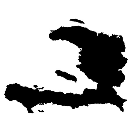 Vector illustration of maps of   Haiti Иллюстрация