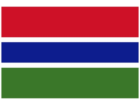 Vector illustration of the flag of  Gambia  Vector
