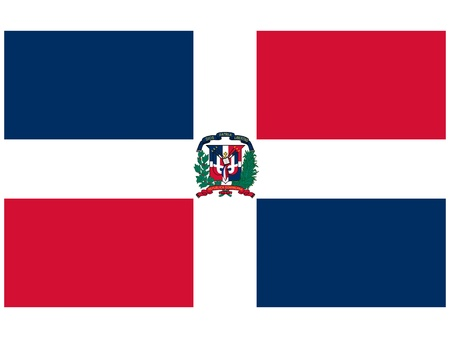 Vector illustration of the flag of  Dominican Republic  Vector