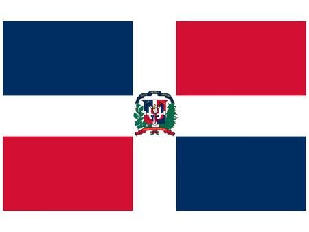 dominican republic: Vector illustration of the flag of  Dominican Republic  Illustration