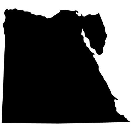 bandera de egipto: Ilustraci�n vectorial de mapas de Egipto