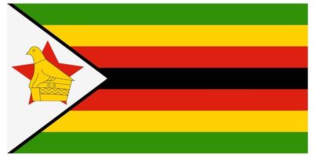 zimbabwe: Vector illustration of the flag of Zimbabwe