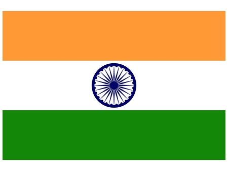 Vector illustration of the flag of  India  Vector