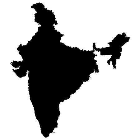 Vector illustration of maps of India  Иллюстрация