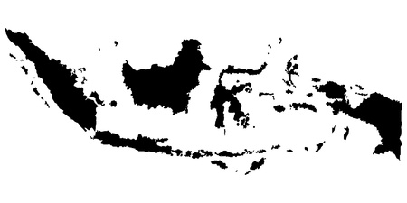 Vector illustration of maps of Indonesia