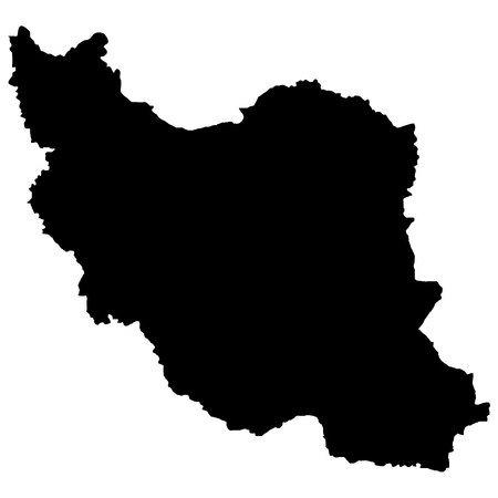 Vector illustration of maps of Iran   Vector