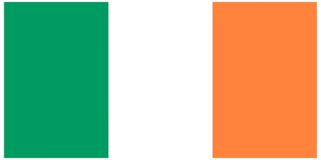 Vector illustration of the flag of  Ireland  Vector