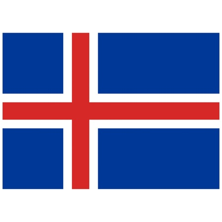 Vector illustration of the flag of Iceland   Vector
