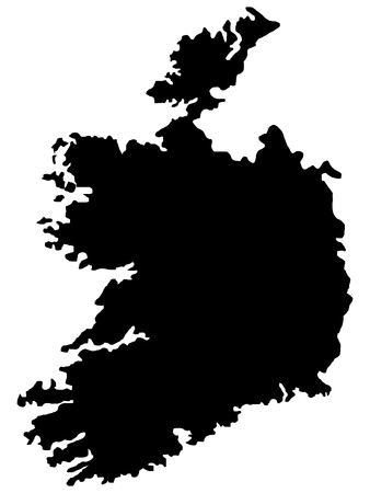 Vector illustration of maps of Ireland