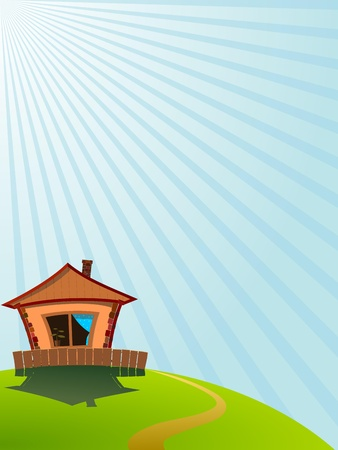 Little House on the Hill Stock Vector - 12397773