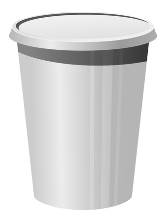 plastic art: Vector illustration of a plastic cup