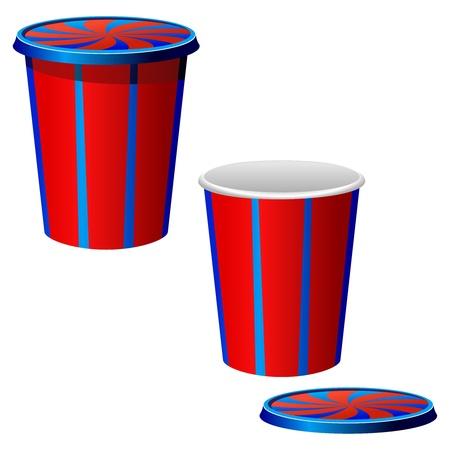 non alcohol: Ilustraci�n vectorial de una taza de pl�stico