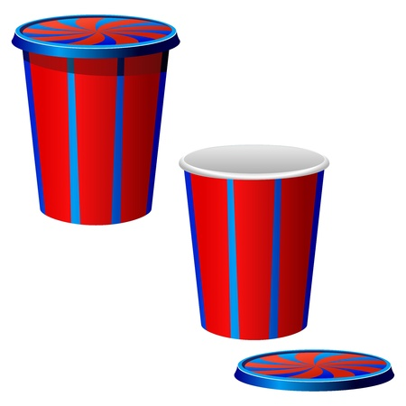 Vector illustration of a plastic cups Vector