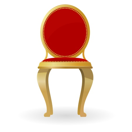antique chair: Retro chair Illustration