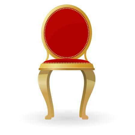 Retro krzesło Ilustracje wektorowe