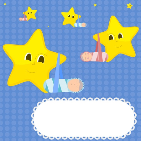 Children and stars. Vector Vector